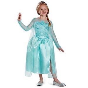 ディズニー DISNEY エルサ スノークイーン ガウン アナと雪の女王 コスチューム 子供用S - 拡大画像