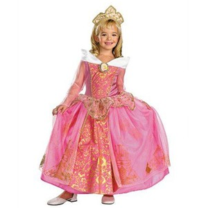 ディズニー DISNEY 眠れる森の美女 オーロラ姫 ヘッドピース(カチューシャ)付き 子供用コスチューム M - 拡大画像