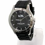 COACH コーチ アウトレット MADDY ブラック ラバー ストラップ ウォッチ レディース / 腕時計