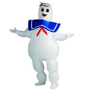 マシュマロマンの膨張式 大人用 コスチューム Inflatable Adult Marshmallow Man Costume 889832 - 拡大画像
