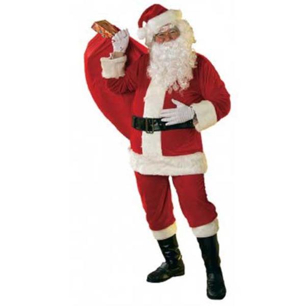 大きいサンタ コスチューム 大人用(USサイズ:XL)ベロア調 New X-Lg Velour Santa