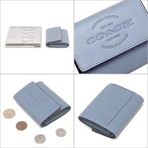 コーチ カードケース COACH アウトレット カーフ レザー ロゴ コインケース / カードケース