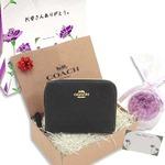 COACH 母の日 ギフトセット レザー スモール 二つ折り財布 F24808IMBLKm19