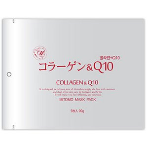 【MITOMO/美友】フェイスマスク・シートマスク5枚10セット【MT1-A-1】コラーゲン + Q10 5枚入10セット 50枚 - 拡大画像