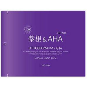 【MITOMO/美友】フェイスマスク・シートマスク5枚10セット【MT1-A-2】紫紺 + AHA 5枚入10セット 50枚 - 拡大画像