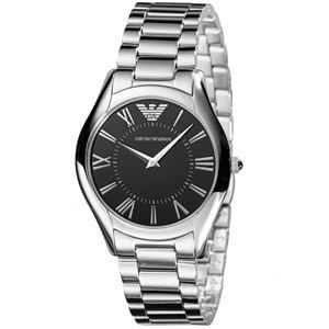 EMPORIO ARMANI (エンポリオ アルマーニ) AR2023 ステンレス ブラック文字盤 ボーイズ(レディース) 腕時計 クォーツ - 拡大画像