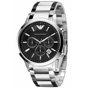 EMPORIO ARMANI (エンポリオ アルマーニ) AR2434 クロノグラフ ステンレス ブラック文字盤 メンズ 腕時計 クォーツ - 拡大画像