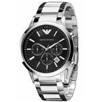 EMPORIO ARMANI (エンポリオ アルマーニ) AR2434 クロノグラフ ステンレス ブラック文字盤 メンズ 腕時計 クォーツ