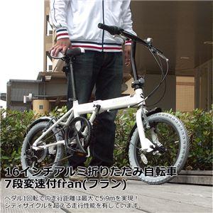 WACHSEN(ヴァクセン) 16インチアルミ折畳自転車 T52ギア採用 7段変速付き fran(フラン) (高品質・人気自転車・人気サイクル) - 拡大画像
