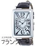 フランク三浦 FRANK MIURA 大型初号機(改) 初号機の大型化約118%増量されたこのボリューム ホワイト文字盤 クオーツ メンズ 腕時計 FM01OK-WH