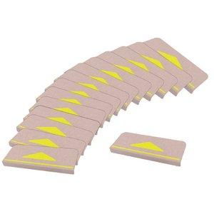 おくだけ吸着 折り曲げ付階段マット 三角マーク付 (15枚入り) - 拡大画像