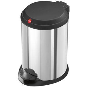Hailo(ハイロ) ペダルビン ティーワン4L ステンレス(ゴミ箱・ダストBOX) 60014 - 拡大画像