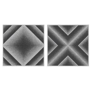 サンコー おくだけ吸着 バリアフリータイルマット グラデーション 18枚組(30×30cm) GY グレー - 拡大画像