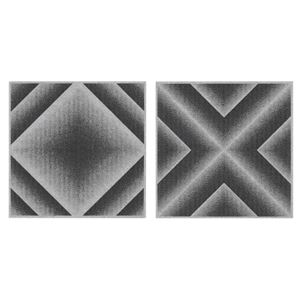 サンコー おくだけ吸着 バリアフリータイルマット グラデーション 36枚組(30×30cm) GY グレー - 拡大画像