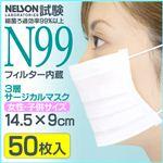 3層サージカルマスク (N99フィルター使用) 女性・子供 IFD-029【50枚入り×40個セット】