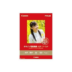 キヤノン(Canon)写真用紙・光沢 ゴールド A4 100枚 GL-101A4100 2310B014 - 拡大画像