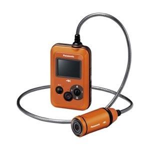 パナソニック(家電) ウェアラブルカメラ (オレンジ) HX-A500-D - 拡大画像