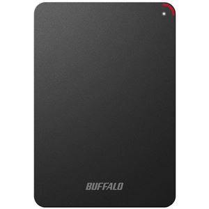 バッファロー ミニステーション ターボPC EX2 Plus対応 耐衝撃&USB3.0ポータブルHDD 4TBブラック HD-PSF4.0U3-GB - 拡大画像