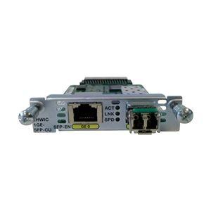 Cisco Systems EHWIC 1 port dual mode SFP(100M/1G) orGE(10M/100M/1G) Spare EHWIC-1GE-SFP-CU= - 拡大画像