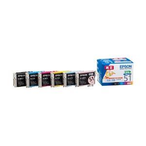 エプソン EP-703A/803A/803AW/903A/903F用インクカートリッジ/小容量タイプ(6色パック) IC6CL51 - 拡大画像