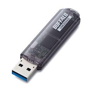 バッファロー USB3.0対応 USBメモリー スタンダードモデル 64GB ブラック RUF3-C64GA-BK - 拡大画像