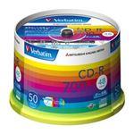 三菱化学メディア CD-R 700MB PCデータ用 48倍速対応 50枚スピンドルケース入り ワイド印刷可能 SR80SP50V1