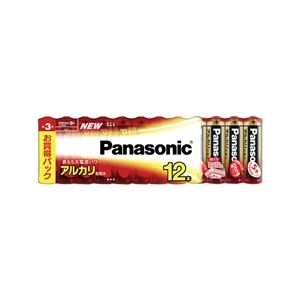 パナソニック(家電) アルカリ乾電池 単3形 12本シュリンクパック LR6XJ/12SW - 拡大画像