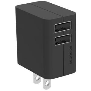 パナソニック(家電) USB出力ACアダプター (ブラック) QE-AP109-K - 拡大画像