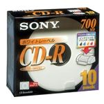SONY データ用CD-R 追記型 700MB 48倍速 ホワイトプリンタブル 10枚P5mmスリムケース 10CDQ80DPWS