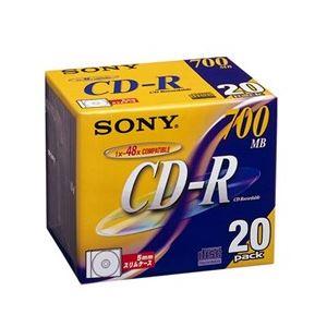 SONY データ用CD-R 追記型 700MB 48倍速 ノンプリンタブル(シルバーレーベル)20枚P 20CDQ80DN - 拡大画像