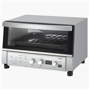 タイガー魔法瓶 コンベクションオーブン&トースター <やきたて> シルバー KAS-G130SN - 拡大画像