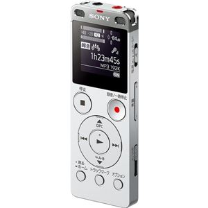 SONY ステレオICレコーダー FMチューナー付 8GB シルバー ICD-UX565F/S - 拡大画像