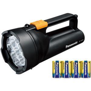 パナソニック 乾電池エボルタ付き ワイドパワーLED強力ライト (黒) BF-BS05K-K - 拡大画像