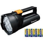 パナソニック 乾電池エボルタ付き ワイドパワーLED強力ライト (黒) BF-BS05K-K