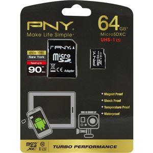 グリーンハウス microSDXCメモリーカード 64GB UHS-I Class10 アダプタ付属 防水 耐衝撃防磁 耐温 永久保証 MRSDXCPUA-64G - 拡大画像