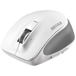 バッファロー Bluetooth BlueLED プレミアムフィットマウス Mサイズ ホワイト BSMBB500MWH - 拡大画像