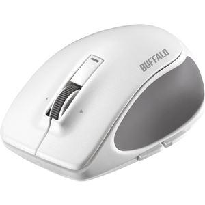 バッファロー Bluetooth BlueLED プレミアムフィットマウス Sサイズ ホワイト BSMBB500SWH - 拡大画像