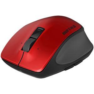 バッファロー 無線 BlueLED プレミアムフィットマウス Lサイズ レッド BSMBW500LRD - 拡大画像