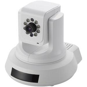エレコム 有線ネットワークカメラ/パンチルト+ナイトビジョン+LTEドングル対応機能搭載 NCC-ENP100WH - 拡大画像