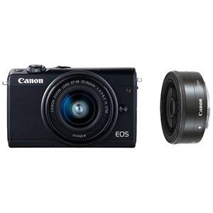 キヤノン ミラーレスカメラ EOS M100・ダブルレンズキット (ブラック) 2209C034 商品写真