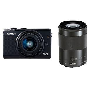 キヤノン ミラーレスカメラ EOS M100・ダブルズームキット (ブラック) 2209C024 商品写真