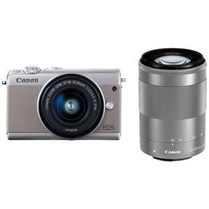 キヤノン ミラーレスカメラ EOS M100・ダブルズームキット (グレー) 2211C024 商品写真