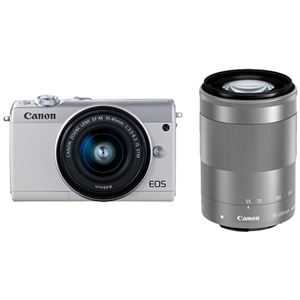 キヤノン ミラーレスカメラ EOS M100・ダブルズームキット (ホワイト) 2210C024 商品写真