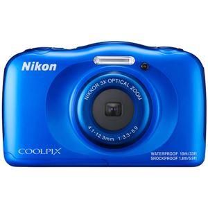 ニコン デジタルカメラ COOLPIX W100 ブルー COOLPIXW100BL 商品写真1