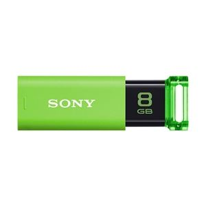 SONY USB3.0対応 ノックスライド式USBメモリー ポケットビット 8GB グリーンキャップレス USM8GU G - 拡大画像