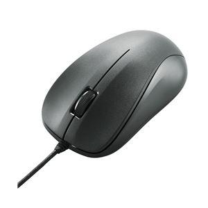 エレコム EU RoHS指令準拠USBレーザーマウス/スタンダードサイズ/簡易パッケージ仕様/ブラック - 拡大画像