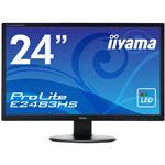 iiyama 24型ワイド液晶ディスプレイ ProLite E2483HS (LED、フリッカーフリー)マーベルブラック