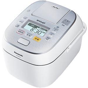 パナソニック(家電) スチーム&可変圧力IHジャー炊飯器 1.0L (スノークリスタルホワイト) - 拡大画像