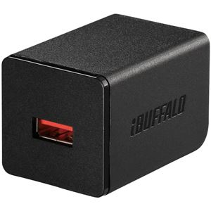 バッファロー(サプライ) 2.4A USB急速充電器 AutoPowerSelect機能搭載 1ポートタイプ自動判別USBx1 ブラック