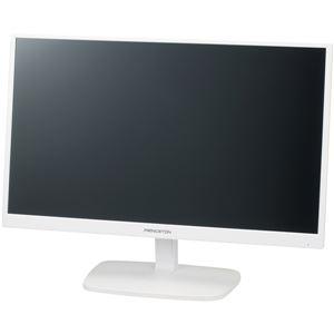 プリンストン 広視野角パネル採用 白色LEDバックライト 23.6型ワイドカラー液晶ディスプレイ(ホワイト)